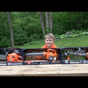 TOYS FOR BOYS - HUSQVARNA POWER TOOLS FOR KIDS